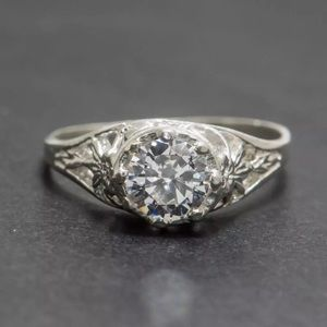 Jewelry - 💖 Sterling 1.28 White Sapphire TCW Ring 🔥SALE 🔥